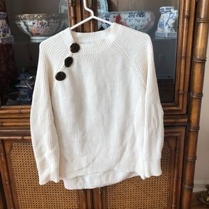 Zara Kids Cream Oversized 3 Button Sweater